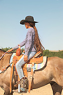 Crow Fair, Indian rodeo, barrel racer, Crow Indian Reservation, Montana, Jaylynn Daychild, Chippewa Cree
