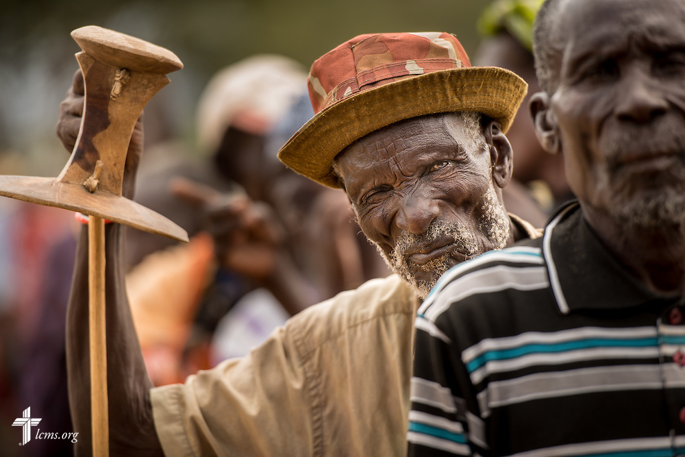 A patient waits in line at the LCMS Mercy Medical Team on Tuesday, June 21, 2016, in Nataparkakono, a village in Turkana, Kenya.  LCMS Communications/Erik M. Lunsford
