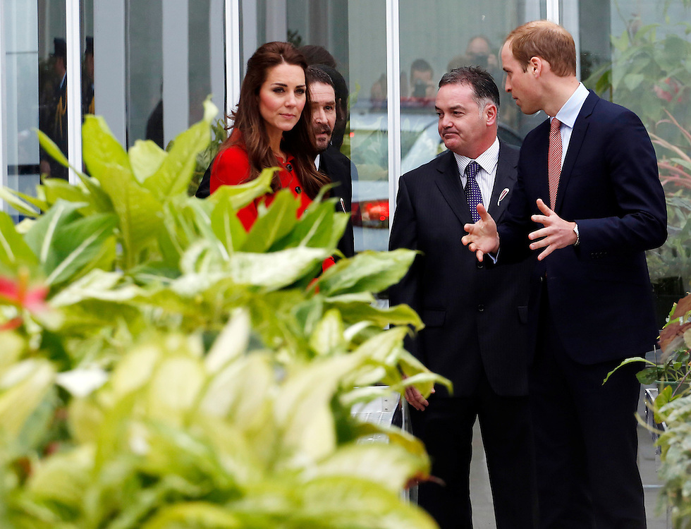 Britain's Catherine, Duchess of Cambridge officially open the Christchurch Botanic Gardens Visitor Centre, Christchurch, New Zealand, Monday, April 14, 2014. Credit:SNPA / Fairfax, Kirk Hargraves  POOL