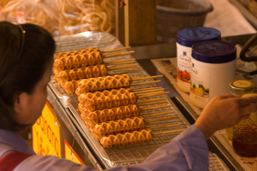 Waffles on a Stick, Wat Prathat Doi Suthep, outside of Chiang Mai, Thailand