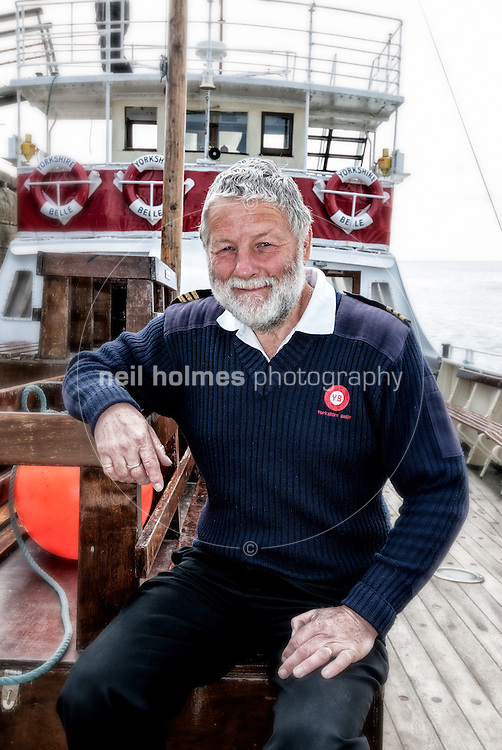 Skipper of the Yorkshire Belle pleasure cruiser Peter Richardson, now working on his 27 season on the boat