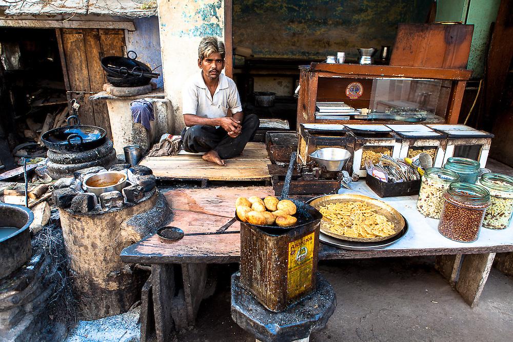 Street chai shop Bundi