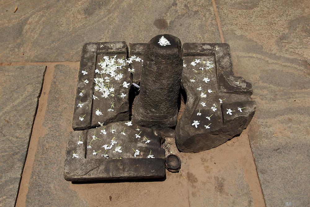 A Phallic symbol makes up a fertility Shrine at the ancient city of Polunnaruwa, Sri Lanka