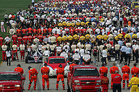 The starting grid at the Chicagoland Speedway, September 11, 2005