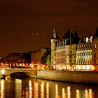 Paris. France., Paris and the Seine River at night