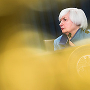 WASHINGTON, USA - December 14: Chair of the Federal Reserve Janet Yellen speaks during a press conference at the Board of Governors in Washington, USA on December 14, 2016.