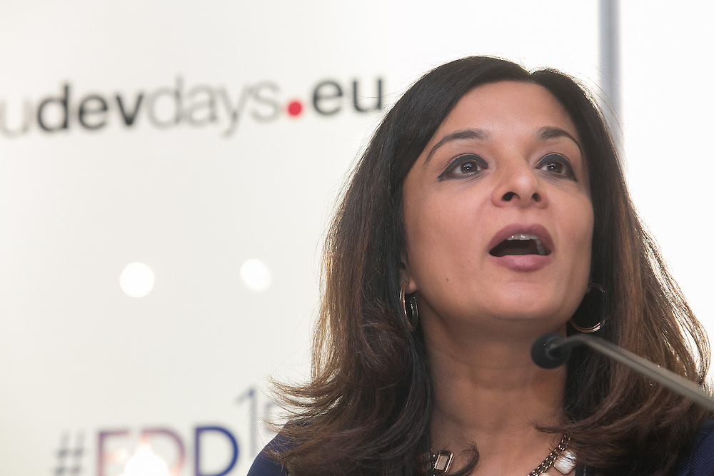 04 June 2015 - Belgium - Brussels - European Development Days - EDD - Urban - Solid ground - Access to land for vulnerable people in developing countries - Deepali Sood , Moderator © European Union