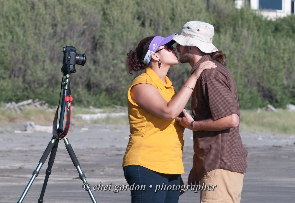 Natasha and her husband Andy at Harris Beach State Park South in Brookings, OR on Monday, July 25, 2016.  © Chet Gordon • Photographer