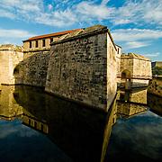 Castillo de la Fuerza guarding Havana Harbor, Cuba.