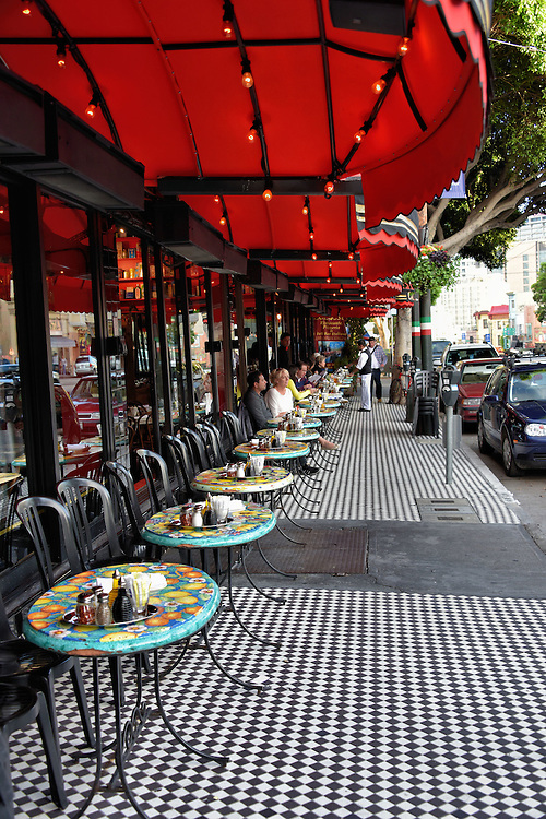 Outdoor Restaurant in North Beach Little Italy in San Francisco, California<br />