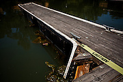 Dilapidated docks at Brannan Island State Recreation Area near Rio Vista, Calif., June 13, 2012. Brannan Island is one of ten state parks to be taken over by a private concession in an effort to prevent mass park closures. CREDIT: Max Whittaker/Prime for The Wall Street Journal.CALPARKS.