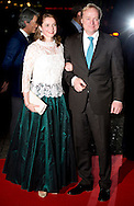 1-2-2014  ROTTERDAM NETHERLANDS  Prince Carlos and annemarie  arrives  for the celebration party for Queen Beatrix to thank fed for being 33 years the Queen of the Netherlands COPYRIGHT ROBIN UTRECHT