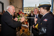 HRH The Princess Royal lends a finger as she receives a demonstration of rope skills Tony &quot;Knotty&quot; Ray during her commemorative visit to Boathouse 4 at Portsmouth Historic Dockyard today. The Boathouse opened last year following a &pound;5.7million restoration and features a boatbuilding academy, The Forgotten Craft exhibition, family activities and Midships restaurant.<br /> Picture date: Monday March 20, 2017.<br /> Photograph by Christopher Ison &copy;<br /> 07544044177<br /> chris@christopherison.com<br /> www.christopherison.com