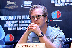 Sept 19, 2012; New York, NY, USA; Freddie Roach during the press conference announcing the fourth fight between Manny Pacquiao and Juan Manuel Marquez at The Edison Ballroom.