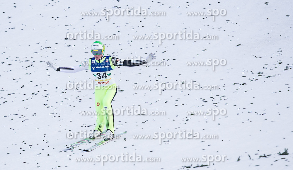 11.01.2014, Kulm, Bad Mitterndorf, AUT, FIS Ski Flug Weltcup, Bewerb, im Bild Peter Prevc (SLO) // Peter Prevc (SLO) during the FIS Ski Flying World Cup at the Kulm, Bad Mitterndorf, Austria on <br /> 2014/01/11, EXPA Pictures &copy; 2014, PhotoCredit: EXPA/ JFK