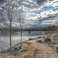 This photo is taken from the beginning of the Owego River Walk in Upstate, NY. You can see the nice landscaping that has been done and is ready to come to life in this early Spring photo.