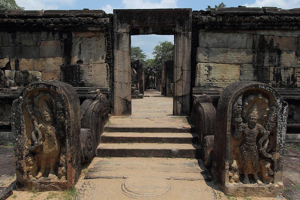 Statues at the ancient city of Polunnaruwa in Sri Lanka's Cultural Triangle