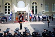 Koning Willem-Alexander en Koningin Maxima de Griekse president Prokopis Pavlopoulos en zijn echtgen