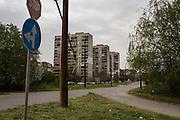 Apartment blocks in Yambol, Bulgaria near Dinko Valev's junkyard.<br /> <br /> Matt Lutton / Boreal Collective for VICE