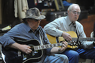 John Cox of Southaven and Joe McCaskill of Oxford were among musicians playing at Blcackjack Connection at Blackjack Presbyterian Church near Sardis Lake on Monday, March 21, 2010.