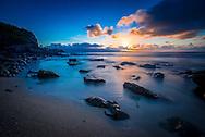 Sunset along the North Shore of Maui Hawaii