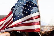 American Flag, Opening Ceremony, Cowgirl, Ingomar Rodeo, Montana