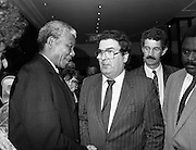 02/07/1990<br /> 07/02/1990<br /> 02 July 1990<br /> Nelson Mandela visits Ireland.<br /> Meeting Dick Spring and John Hume.