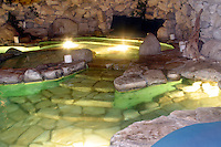 9 July 2002: EXCLUSIVE Photo. The famous grotto inside a cave at the playboy mansion, home of Hugh Hefner's 5.5 acre estate near UCLA in Los Angeles, CA. USA.