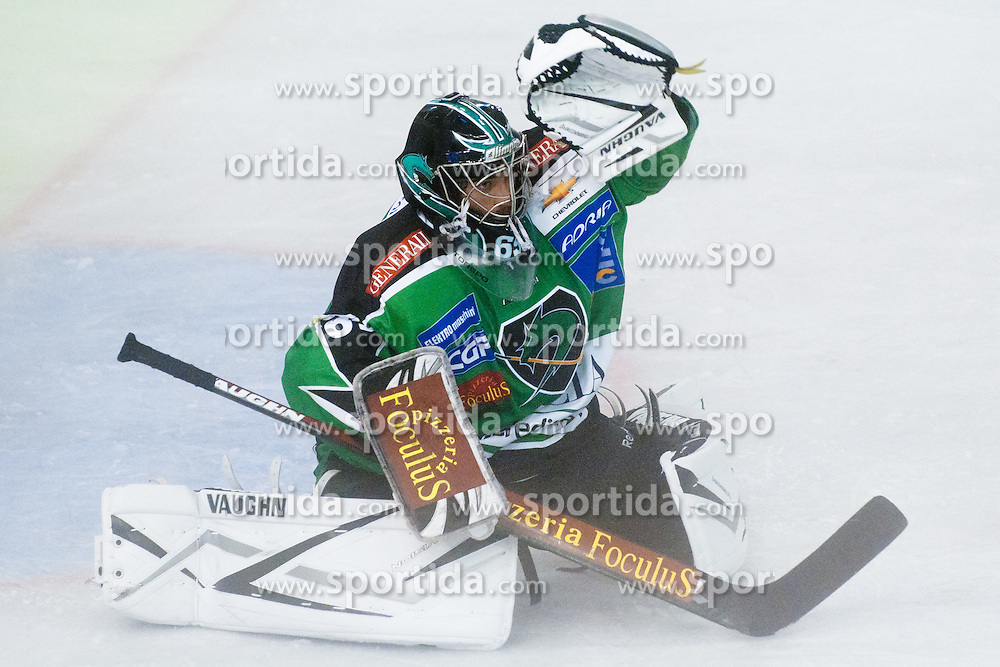 Matija Pintaric of HDD Tilia Olimpija during friendly ice-hockey game between HDD Tilia Olimpija and KHL Medvescak Zagreb, on August 15, 2011, in Hala Tivoli, Ljubljana, Slovenia. (Photo by Matic Klansek Velej / Sportida)