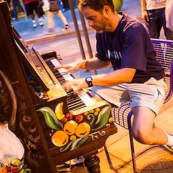 Piano music on 16th Street, Denver, Colorado