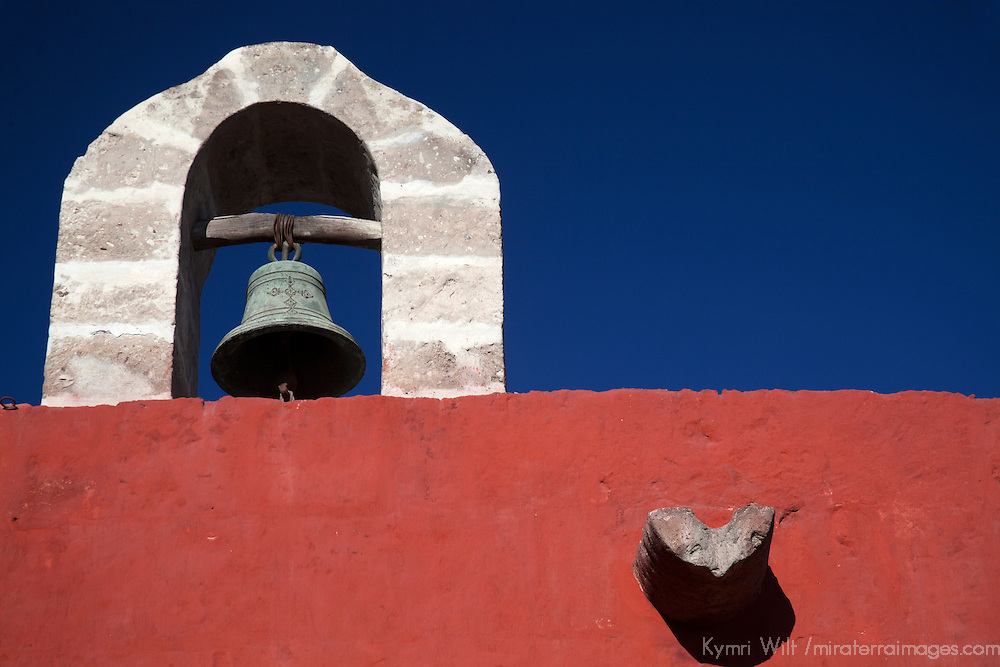 South America, Peru, Arequipa. Bell at Monasterio de Santa Catalina.