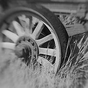 Wagon Wheel - Bodie, CA - Lensbaby - Black & White
