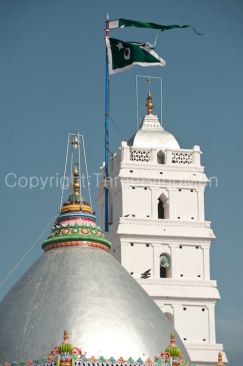 Minaret and Dome of the Dargah shrine. Nagore. South India.