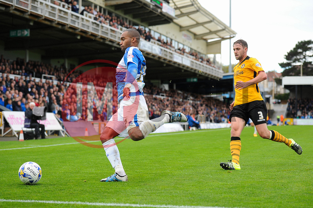 Jermaine Easter of Bristol Rovers closes down the ball - Mandatory byline: Dougie Allward/JMP - 07966 386802 - 24/10/2015 - FOOTBALL - Memorial Stadium - Bristol, England - Bristol Rovers v Newport County AFC - Sky Bet League Two