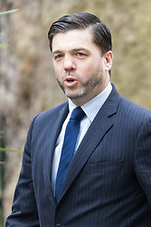 Downing Street, London, March 8th 2016. Wales Secretary Stephen Crabb arrives for the weekly UK cabinet meeting at Downing Street. &copy;Paul Davey<br /> FOR LICENCING CONTACT: Paul Davey +44 (0) 7966 016 296 paul@pauldaveycreative.co.uk