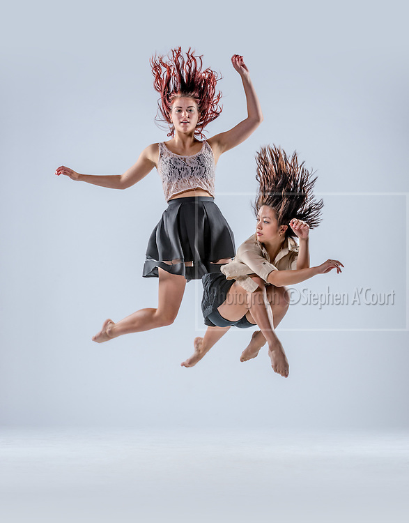 Wellington, NZ. 29.03.2014. Contemporary dancers photographed for the New Zealand School of Dance at Te Whaea Theatre, Mt Cook. Art direction: Paula Steeds-Huston, Head of Contemporary Dance. Victoria Colombus, Contemporary Tutor. Photo credit: Stephen A'Court. COPYRIGHT: ©Stephen A'Court.