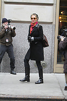 "Debra Messing, Megan Hilty, Katheine Mcphee and Uma Thurman on the set of the NBC series ""Smash"". NY, NY January 26th 2012 Non Exclusive. Photo Sales Contact: Eric Ford/ On Location News 1/818-613-3955 info@onlocationnews.com"