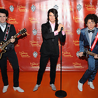 Jonas Brothers, Kevin, Joe & Nick unveil their wax figures at Madame Tussauds in Washington, DC on August 18, 2008