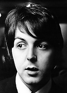 The Beatles Paul McCartney at a press conference at the Royal Garden Hotel, London to publicise the Leicester Arts Festival