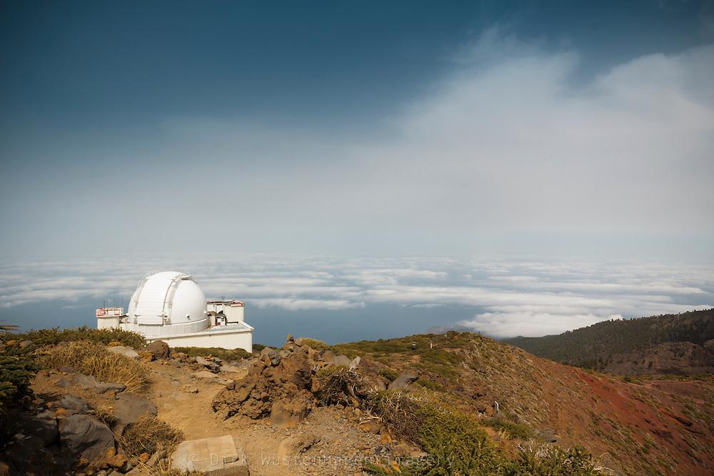 Roque de Muchachos Stermwarte, Isaac Newton Teleskop, La Palma, Spanien
