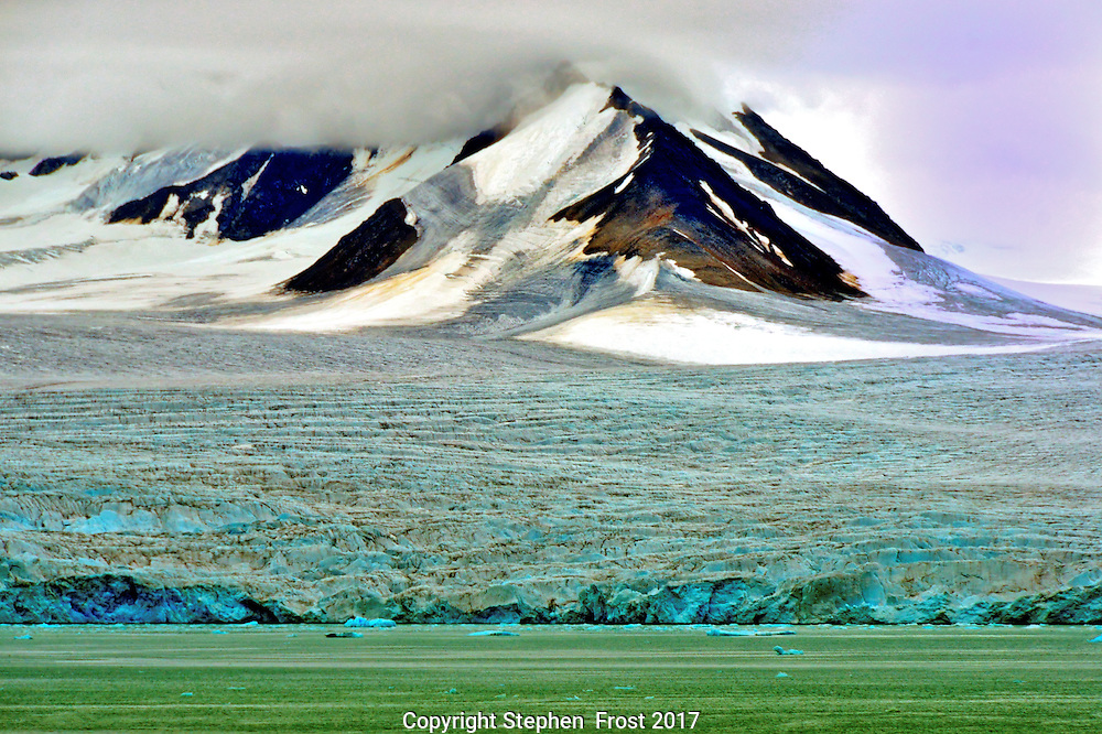 Arctic Glacier in Svalbard.<br />