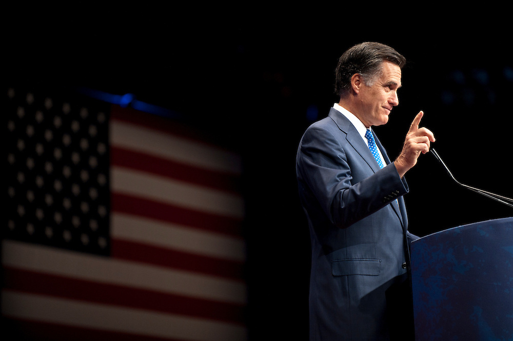 Former Governor of Massachusetts MITT ROMNEY speaks at the annual Conservative Political Action Conference (CPAC) in Washington, D.C. on Friday. CPAC, which began in 1973, attracts more than 10,000 people and The American Conservative Union, which runs it, announced it expected 1,200 members of the media.