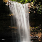 &quot;Morning Lights the Falls&quot;<br /> <br /> Beautiful morning light shines on Cucumber Falls.