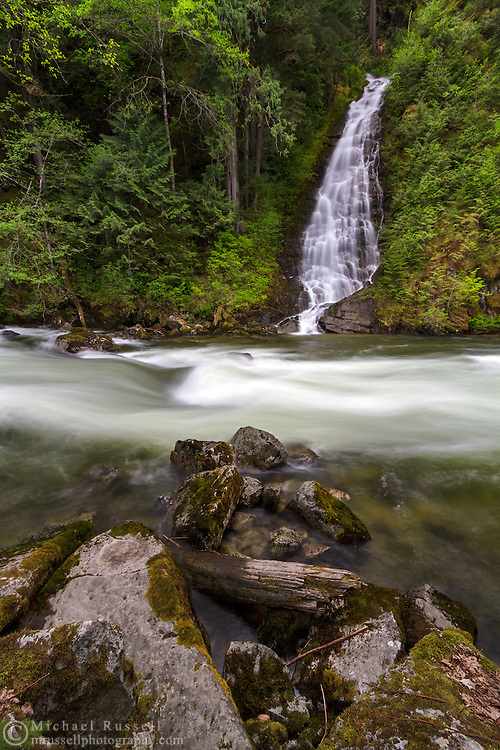 Eureka Falls and Silverhope Creek near Hope, British Columbia, Canada