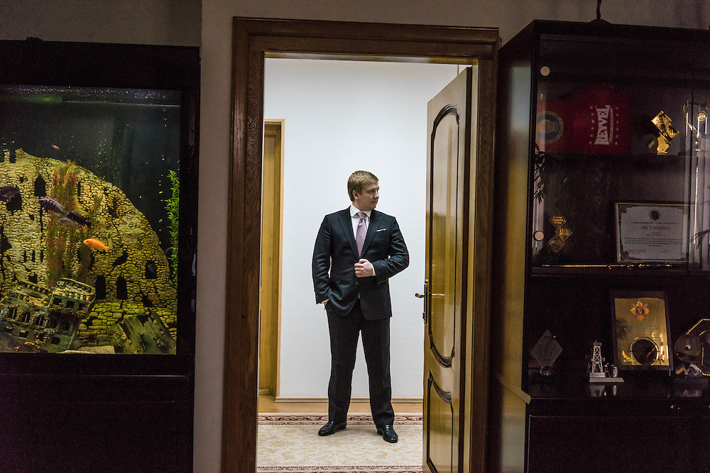 Andriy Kobolev, CEO of Naftogaz, poses for a portrait in his office on Friday, March 11, 2016 in Kyiv, Ukraine. CREDIT: Brendan Hoffman/Prime for The Wall Street Journal NAFTOGAZ