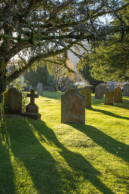 The Graveyard at Grasmere Church in the English Lake District