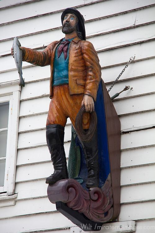 Europe, Norway, Bergen. Fisherman of Bryggen, architectural detail.