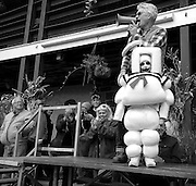 It's the StayPuft Marshmallow Man – who wins the Starlite Camping Resort's annual halloween costume contest in Stephens, Pa.