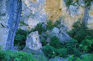 France, Languedoc Roussillon, Lozère, Cévennes, Gorges du Tarn, rochers colorés