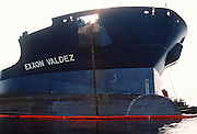"Alaska. Prince William Sound. Bow of the oil tanker ""Exxon Valdez""."